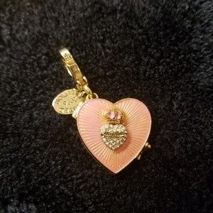 Juicy Couture gold heart locket charm